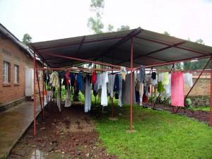 Et le linge sèche même par temps de grosses pluies!